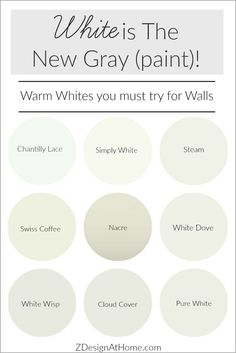 The Best Warm White Paints by Benjamin Moore & Sherwin Williams
