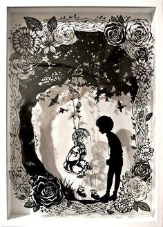 Sadalsuud - Feelings of Naisho - naisyo no kimochi - Paper Pop, 3d Paper, Paper Crafts, Kirigami, Boli 3d, 3d Cuts, 3d Figures, Paper Animals, Paper Artwork