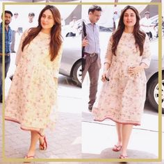 In Pics: Kareena Kapoor Khan Rocking Her Baby Bump Bollywood Stars, Bollywood Fashion, Bollywood Celebrities, Indian Maternity Wear, Maternity Dresses, Pregnancy Outfits, Pregnancy Dress, Pregnancy Style, Pregnancy Fashion