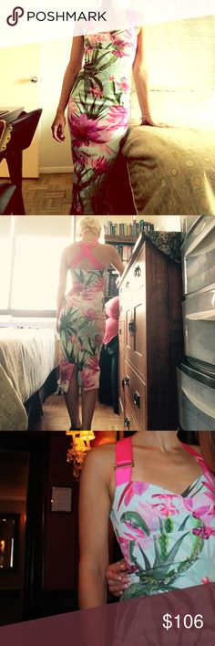 Ted Baker Carpel Chameleon Print Dress Ted Baker dress worn only once, in perfect condition. Only selling because just had a baby and don't think I'll fit back into it any time soon. Size 0 (but Ted Baker runs large). Original price was $206. Ted Baker Dresses