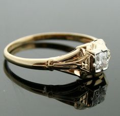 Antique Yellow Gold Engagement Ring