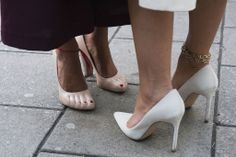 Street Style Shoes and Bags London Fashion Week Spring 2014 ---- It's All About the Little Things at London Fashion Week >>> These Céline heels do the work for you — they already have pedicured toes!