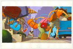 Edmond à la plage by Frédéric Pillot - Illustration