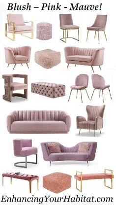 51 Ideas For Salon Furniture Ideas Dreams Living Room Sofa Design, Home Room Design, Living Room Designs, Living Room Decor, Bedroom Decor, Chairs For Living Room, Blush Living Room, Bedroom Sofa, Bedroom Ideas