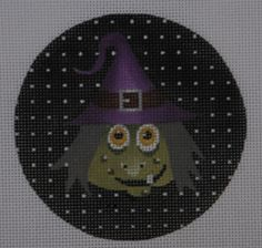Meet Agnes, the Witch! #Needlepoint #Halloween #Stitch
