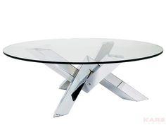 Salontafel Crystal Eco is een tafel met een Esher-achtig onderstel en komt uit de collectie van Kare Design. Bestel deze tafel op Furnies.nl en geef dit kunstwerk een spot!