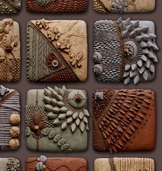 Incredible ceramic pieces...both vessel and wall art. This is a mural detail from a ceramic wall piece by artist Chris Gryder. www.flickr.com/photos/gryderware/with/250154020/