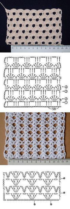 Crochet diamond stitch