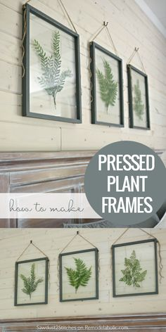 How To Make Your Own DIY Pressed Plant Frame | Build a DIY pressed plant frame using faux greenery and affordable glass for a gorgeous wall art display that will fit any style, farmhouse to modern. Full tutorial on Remodelaholic.com.