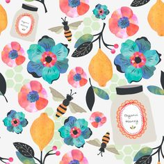 """Project by Meg Atkin from """"Pattern Design: Creating Inspiring Repeats"""""""