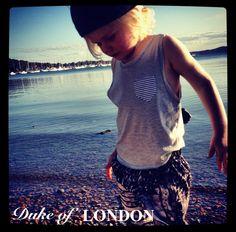 STASH TANK - GREY/STRIPE POCKET by Duke of London