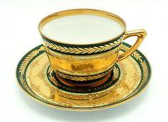 Fine Antique Karl Richard Klemm Dresden Porcelain Demitasse Cup And Saucer
