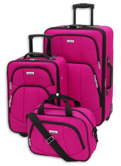 Forecast Magenta Fiji 3 Piece Luggage Set - For the Home - Luggage & Suitcases - Luggage Sets