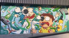 Rick and Morty mural.