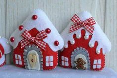 white and grey palette hanging Christmas decorations, sewing crafty Christmas ideas