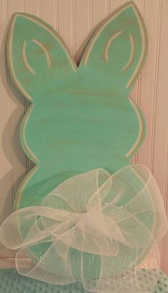 Easter Bunny Shabby Chic Wooden Door Hanger Sign by MBPandMore. You are in the right place about rustic wooden doors Here we offer you the most beautiful pictures about the wooden doors Wooden Door Hangers, Wooden Doors, Wooden Door Signs, Easter Projects, Easter Crafts, Easter Decor, Easter Ideas, Hoppy Easter, Easter Bunny