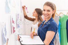 Fashion designers sketching. — Стоковое изображение #45540647