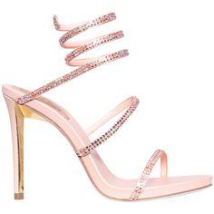 60 Trendy Ideas For Womens Shoes Sandals Summer Rene Caovilla Ankle Strap Sandals, Women's Shoes Sandals, Pink Sandals, Summer Sandals, Heeled Sandals, Strappy Heels, Trendy Womens Shoes, Pink High Heels, Rene Caovilla