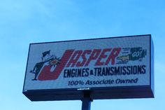 New LED Message board for Jasper Engines & Transmissions - looks amazing!