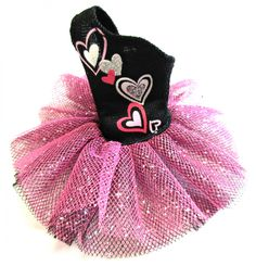 Pinkie Pie MLP Black Pink Hearts Tutu Doll Dress Silver Sparkle My Little Pony Equestria Girls