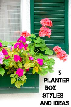5 planter box styles and ideas