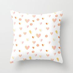Pillow Cover, Throw Pillow, Nursery Room Pillow, Baby Pillow, Love Pillow, Hearts Pillow, Heart Pattern Pillow - Be my Valentine