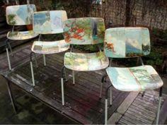more decoupage chairs