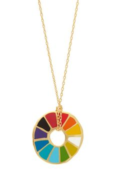 PERFECT GIFT FOR THE ART TEACHER!!!!  Corked Necklace in Color Wheel, #ModCloth