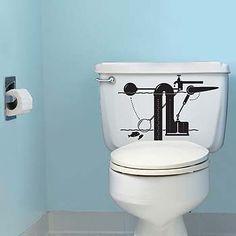 banheiros com adesivos modernos - Pesquisa Google