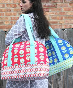 Aeroplane Bags sewing pattern - 2 sizes