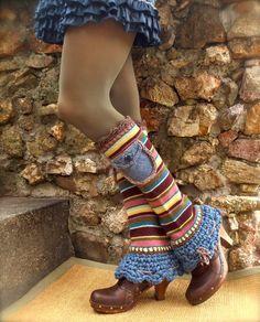 URBAN Chicks LEG WARMERS Flared leg warmers cute Pockets by GPyoga, $65.00