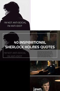 40 INSPIRATIONAL SHERLOCK HOLMES QUOTES