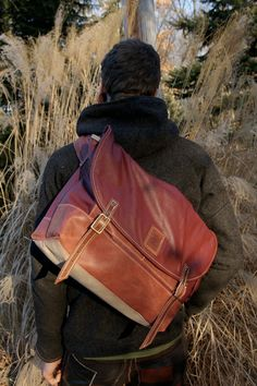 Leather Messenger Bag by MercyLeatherWork