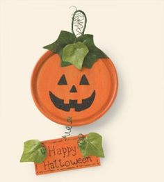 Upcycle a juice can lid into a cute little jack o'lantern to hang for Halloween.