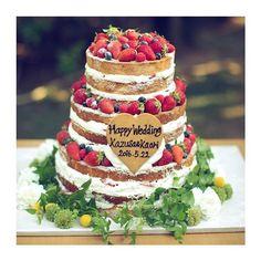 ウェディングケーキ 3段ケーキ いちご ナチュラル ケーキ