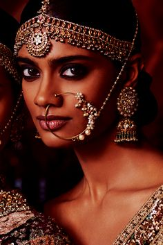 Based in Mumbai, Bridelan is a boutique bridal styling company that offers personal shopping, fashion styling and luxury consultancy services for South Asian and Indian weddings. Bollywood Jewelry, Bollywood Fashion, Nose Jewels, Brown Girl, Desi Wedding, Indian Girls, Indian Bridal, Bridal Makeup, Indian Dresses