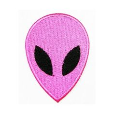 Pink Alien Patch Movie Cartoon Logo Kid Polo T Shirt Patch Iron on... ($4.99) ❤ liked on Polyvore featuring fillers - pink, filler and patch