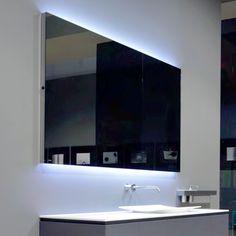 Trend antoniolupi FLASH Spiegel mit polierter Kante und wei er LED Beleuchtung Breite cm