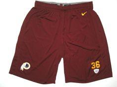 94443bf0 Darrel Young 2013 Training Camp Worn & Signed Official Washington Redskins  #36 Nike Dri-Fit XL Shorts