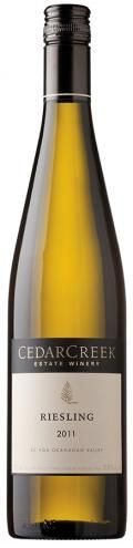 cedarcreek riesling / okanagan valley  must try and find you at lcbo