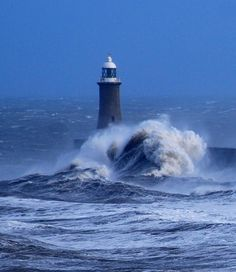 Lighthouse at Tynemouth, North East England