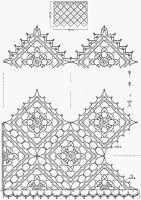 happyafterblog: Szydełkowa firanka w koła z kwadratów:) - schemat