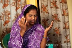 Bringing hope to women in Asia: This women now worships a God who loves her. More women in Asia need to find out about God's love – help now.