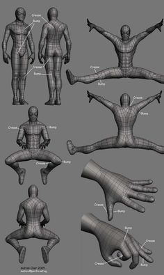 Model is too clean, need some help adding details (topology) - Support / Modeling - Blender Artists Community Modeling Techniques, Modeling Tips, Maya Modeling, Drawing Techniques, Drawing Tips, Wireframe, Blender 3d, Level Design, 3d Model Character