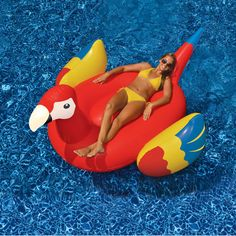 Giant Inflatable Parrot Float - Fun Inflatables http://www.intheswim.com/p/giant-parrot-ride-on-inflatable-pool-toy?pcode=209&scode=SOCIPINT