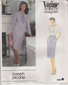 Vogue Designer Suit Sewing Pattern Business Suit pattern Joseph Picone American Designers Size 14 by SissysPatterns on Etsy