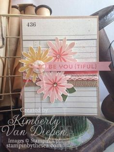 Flower Patch | Stampin' Up! Typeset dsp, photopolymer; StampinByTheSea.com Flower Patch stamp set, Stampin' Up!
