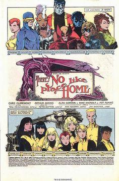 Uncanny X-Men Annual #9 published splash page. I love Arthur Adams work.!
