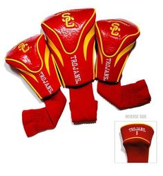 USC Trojans Southern Cal Contour Gollf Club HeadCover - 3 Pack