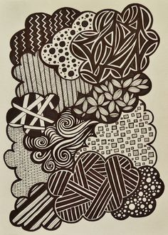 Clouds - sharpie marker art - zentangle - SF